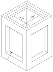 12 X 12 X 18 Concrete Catch Basin W/ Grate CAT663,12X12X18,