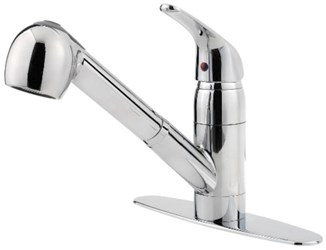 G133-10cc Pfist Series Ada Pol Chrome Lf 8 In Centerset 1 Or 3 Hole 1 Handle Kitchen Faucet 2 Function Pull Out Spray CAT162,G13310CC,038877548769,38877548769,