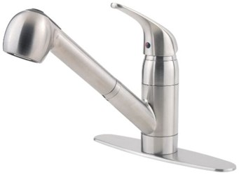 G133-10ss Pfist Series Ada Stainless Lf 8 In Centerset 1 Or 3 Hole 1 Handle Kitchen Faucet 2 Function Pull Out Spray CAT162,G13310SS,038877548776,38877548776,