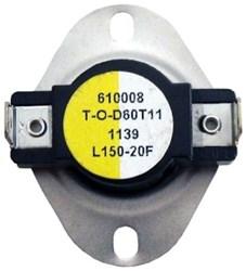 L150 Thermodisc Spst 150 Degree F Open/130 Degree F Close/20 Degree F Differential Limit Thermostat CAT382,L150,GPL150,L15020,L150,38436914,687152020515