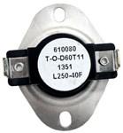 L250 Thermodisc Spst 250 Degree F Open/210 Degree F Close/40 Degree F Differential Limit Thermostat CAT382,L250,GPL250,L25040,39029,L250,999000062263,38436940,687152020690