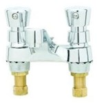 B-0831 T&s Brass Polished Chrome Ada Lf 4 In Centerset 2 Handle Metering Faucet 2.2 Gpm CAT168,671262007238,B831,B0831,TSMF