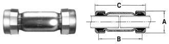 702 Telsco 1-1/4 Steel Long Coupling CAT241,GCOMPCH,GDCH,702H,01504307,GCCH,999000053378
