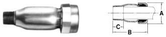 704 Telsco 1 Steel Male Adapter CAT241,GDMAG,TMAG,GCMAG,704G,999000026248