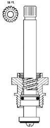 15706 Union Brass 3 Tub & Shower Stem Unit CATFAU,15706,671231157063,
