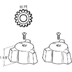 21841 Eljer Generic Metal Tub & Shower Handles CATFAU,21841,671231218412,