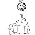 21842 Eljer Generic Metal Shower Diverter CATFAU,21842,671231218425,