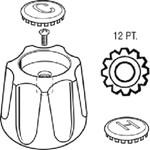 23012 Price Pfister Metal Sink & Lav Handle CATFAU,23012,671231230124,