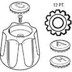 23018 Price Pfister Metal Tub & Shower Handle CATFAU,23018,671231230186,