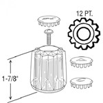 23025 Price Pfister Windsor Acrylic Sink & Lav Handles CATFAU,23025,671231230254,