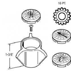 23408 Metal Sayco Shower Diverter Handle CATFAU,23408,671231234085,