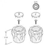 23811 Sterling Acrylic Handle CATFAU,23811,671231238113,
