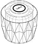 24601 Valley Ii Acrylic Small Handle CATFAU,24601,671231246019,