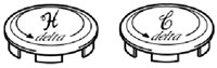 26104 Delta Faucet Hot And Cold Index Button CATFAU,26104,671231261043,