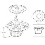 43022 Moen Tear Drop Style Lavatory Handle CATFAU,43022,671231430227,