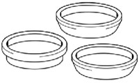 64130  1-1/2 Plastic Slip Joint Washer