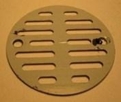86014  3-1/2 Polished Chrome Round Grid Strainer CATFAU,86014,671231860147,
