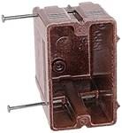 1260 Carlon Brown 3.875 X 2.375 X 3.656 N Single Gang Nail On CAT751U,78635856560,7514,285145,1260,1GB,1GBD
