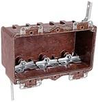 6063-4 T&b 37 Cu In 3 Gang Brown Rectangular Electrical Box CAT751U,C60634,60634,3GB,3GBNO,78635852247