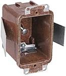 7010-8 T&b 12.5 Cu In 1 Gang Brown Rectangular Electrical Box CAT751U,C70108,70108,1GB,78635852370