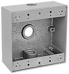 2ih3-1 Red Dot 1/2 Hub 2 Gang 3 Hub Die-cast Aluminum Box CAT751U,2IH3-1,042269394186,HUB53330,WPB2D,53330,04226939418