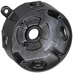 Ds-47-br Red Dot 1/2 Hub 5 Hub Die-cast Aluminum Box CAT751U,DS-47-BR,042269810518,HUB53612,WPRBD,53612,DS47BR,04226981051