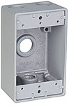 Ih4-1-lm Red Dot 1/2 Hub 1 Gang 4 Hub Die-cast Aluminum Box CAT751U,IH4-1-LM,042269392557,HUB53210,WPBD4,53210,04226939255