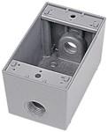 Ihd3-1 Red Dot 1/2 Hub 1 Gang 3 Hub Die-cast Aluminum Box CAT751U,IHD3-1,042269393271,HUB53850,WPBDD,53850,04226939327