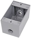 Ihd3-2 Red Dot 3/4 Hub 1 Gang 3 Hub Die-cast Aluminum Box CAT751U,IHD3-2,042269393288,HUB53860,WPBFD,53860,04226939328