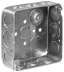 521511234gb T&b 21 Cu In Silver Square Electrical Box CAT751U,521511234GB,785991025774,HUB192,192,4SQ,4SQB,78599102577
