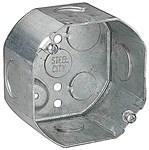54171 Steel City 4 X 2.125 Silver Ceiling Box