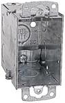 Cxwow Steel City 18 Cu In Pre-galvanized Steel Cable Clamp/ear Flush Switch Box CAT751U,CXWOW,785991107210,HUB601,SBGD,601,78599110721