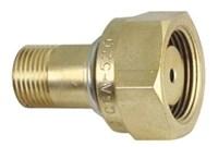 F31 Adaptor, Cga520 B Cylinder To Cga200 Mc Regulator