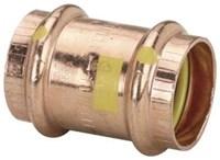 16108 D-w-o Viega 1 Copper Propressg Gas Coupling With Stop Press X Press