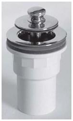 612-lt-pvc-cp Lift And Turn Tub Closure W/ Spigot Adapter Sch 40 Pvc Pvc Chrome Plated CAT170W,612-LT-PVC-CP,640263011476,