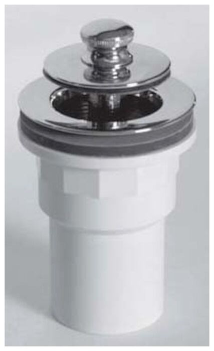 Watco Manufacturing Co Push Pull Tub Closure W Spigot Adapter Sch 40 Pvc Pvc Chrome Plated