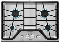Maytag 30 Stainless Steel Cooktop Ada Sealed Natural Gas CAT302M,MGC7430DS,883049324098