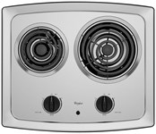 Whirlpool 30 Stainless Steel Cooktop Coil Electric CAT302W,RCS,50946997094,050946997094