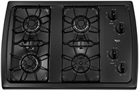 Whirlpool 30 Black Cooktop Sealed Natural Gas CAT302W,883049227610