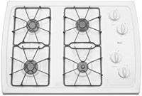 Whirlpool 30 White Cooktop Sealed Natural Gas CAT302W,883049227627