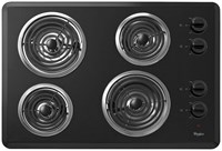 Whirlpool 30 Black Cooktop Coil Electric CAT302W,883049260303