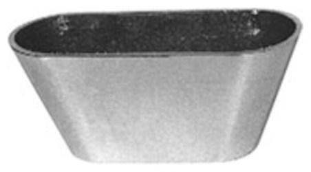 """Zn-329-7 Zurn 7"""" Nickel Bronze Oval Funnel CAT424Z,ZN329-7,ZN-3297,ZN-329-7,ZN329,ZN-329,FUNNEL,ZN3297,MFGR VENDOR: ZURN,PRCH VENDOR: MMA,670240141032"""