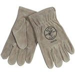 40006 Klein Tools Gray Cowhide Leather Glove L CAT526,40006,092644601064