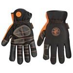 40072 Klein Tools Black/gray Spandex Glove L CAT526,40072,092644600036