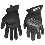 40206 Klein Tools Journeyman Black/gray Leather Glove L CAT526,40206,092644402067