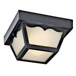 11027bk D-w-o Kichler Black Steel Outdoor Ceiling 2lt Fl CATO731K,11027BK,783927291507