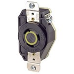 2310 Leviton Flush Locking 125 Volts Black Nylon Electrical Receptacle CAT752,80110,07847780110