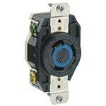 2620 Leviton Flush Locking 250 Volts Black Nylon Electrical Receptacle CAT752,80949,MFGR VENDOR: LEVITON,PRCH VENDOR: LEVITON,07847780949