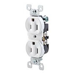 5320-wcp Leviton Duplex Straight Blade 125 Volts White Thermoplastic Electrical Receptacle CAT752,L5320W,ERW,EDR,LEV5320W,RW15,DRW15,WSPS,SPSW,RW,5320W,07847715142