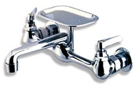 """Ft-312 8"""" Nlf ( D-w-o ) Combination Wall Fcts W/12"""" Tublar Spout CATO149,FT312,MWF,CL-312CS,082647655126,"""